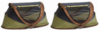 TWINS DEAL - 2 x Large Deluxe Pop Up Travel Cots
