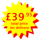 Cost £39.95 including VAT and delivery
