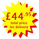 Cost £44.95 including VAT and delivery